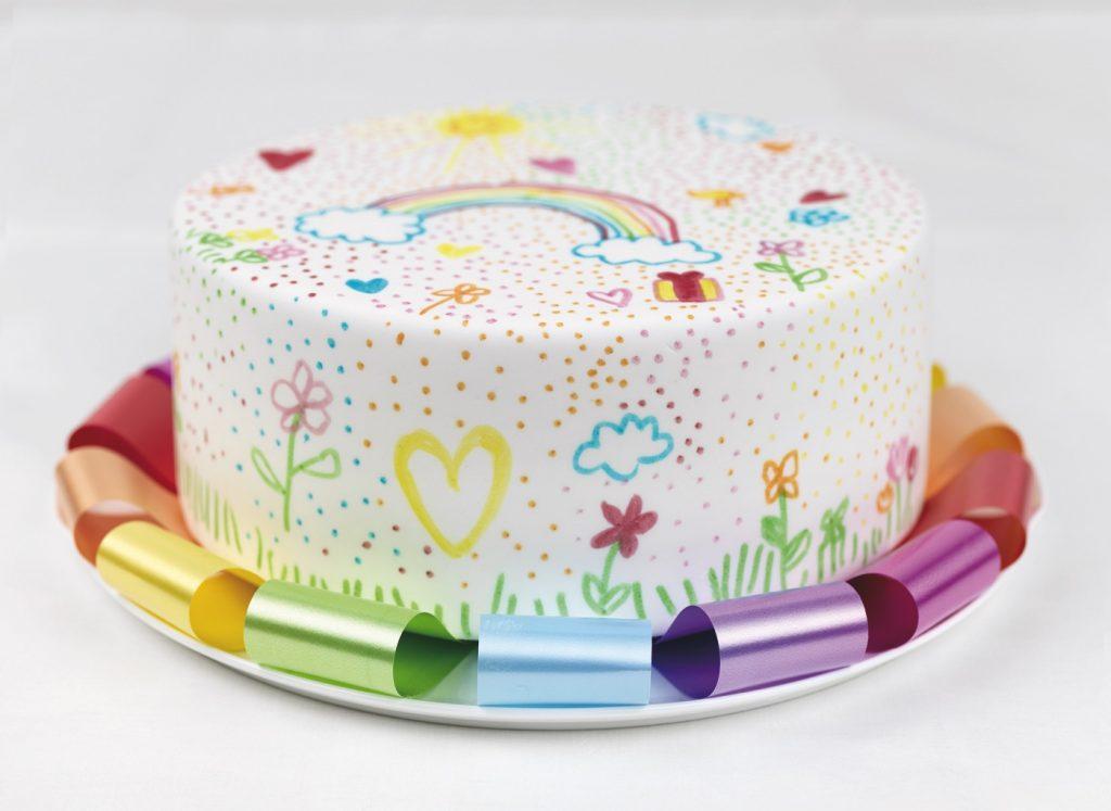 CAKE SKIRT RAINBOW