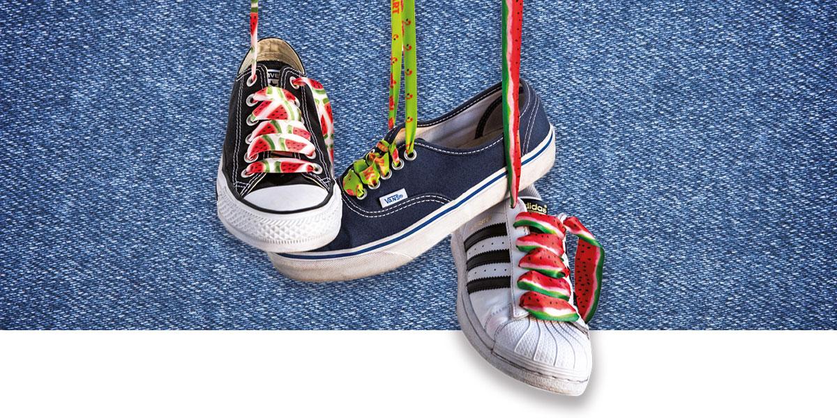 lacci colorati scarpe