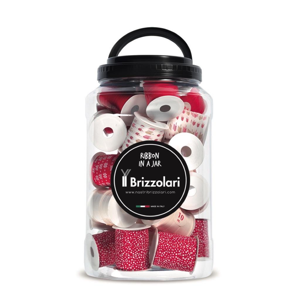 Jar rocchettini red & white